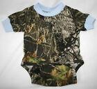 Mossy Oak Camo Blue Baby Diaper Shirt, Boy Camouflage Snap Creeper