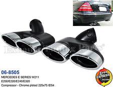 Exhaust tips tailpipe enjoliveurs pour mercedes benz W211 E200 E220 E240 E320/06-8505