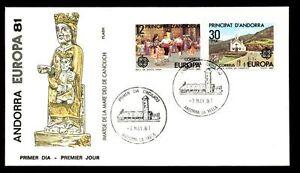 Andorra Spanish 1981 Euopa FDC #C5832