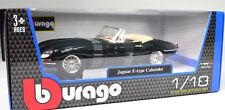 Jaguar E Cabrio grün Modellauto 1 18 Bburago 12046 die Cast