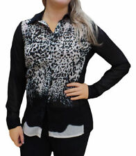 Polyester Leopard Plus Size Tops & Shirts for Women