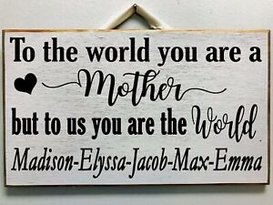 The love between a Mother and Daughter is Forever sign wood mom gift made in USA