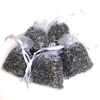 5 High Quality Fresh Kent Lavender Hand Made White Butterflies 5x7 Organza Bags