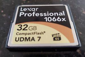 Lexar Professional 1066x 32GB CompactFlash CF Memory Card UDMA 7