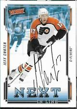 JEFF CARTER autographed signed UPPER DECK Victory card FLYERS  KINGS