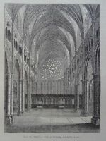 London THE OLD ST. PAUL'S CATHEDRAL INTERIOR EAST Original Victorian Print 1878