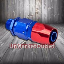 Red/Blue Straight Swivel Oil/Fuel/Fluid Line Hose End 12AN T1 Fitting Adapter