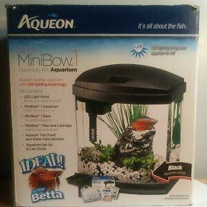 Aqueon LED MiniBow 1 - Black - 1 gal fish tank aquarium