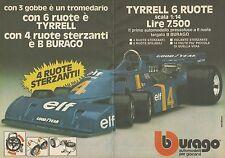 X9483 BBURAGO - Tyrrell 6 ruote - Pubblicità 1977 - Advertising