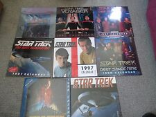 8 VINTAGE STAR TREK CALENDARS 1996, (4) 1997, (3) 1998 7 STILL IN PLASTIC