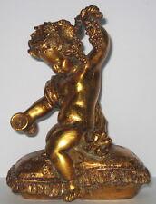 Engel Deko Figur Putto, Briefbeschwerer, Nostalgie, Kunststein, 16x12x7cm