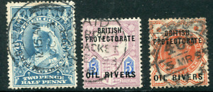OIL RIVER COLONY (25711): maritime/arrival postmark/cancels