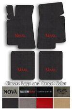 Chevrolet Chevy 2-Nova 4pc Classic Loop Carpet Floor Mats - Choose Color & Logo