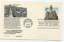 UX99  13c Old Post Office, Washington, DC, Aristocrat Cachets, FDC