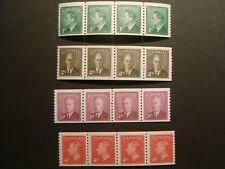 Canada.KGVI 1950 coil strips 297-300.MNH