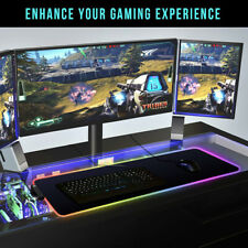 Gaming Mouse Pad RGB LED Illuminated Anti-slip Gamer Accessories Large Mouse Mat