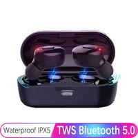 Bluetooth 5.0 Headsets TWS Sport Kabellose Kopfhörer Stereo mit Ladekästchen