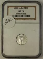 2008 US $10 American Platinum Eagle APE 1/10oz NGC MS-70 *PERFECT Coin*