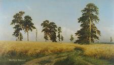 """20"""" PRINT Rye Field,1878 by Shishkin ANTIQUE MUSEUM ART - PINE FOREST LANDSCAPE"""