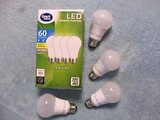 Go Green w/Gv 9W/60W LED Light Bulb-Soft White, Energy Saving,18 Yr. Life,4 Pack
