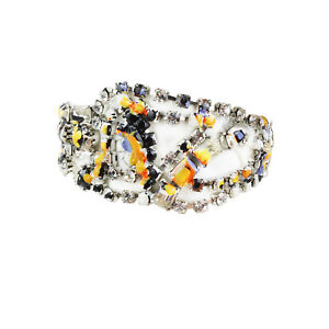 Tom Binns Crystal Detailed Abstract Paint Splatter Bracelet