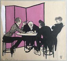 Willibald Krain: Wand... - Monogrammierte Original Tuschezeichnung von 1908- rar