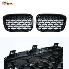 For BMW X3 G01 X4 G02 18-20 Glossy Black Diamond Front Kidney Grille Replacement