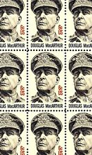 1971 - General Douglas MacArthur - #1424 Mint Mnh Sheet of 50 Postage Stamps