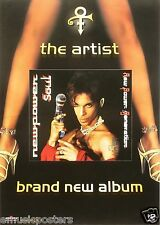 "PRINCE ""NEW POWER SOUL"" GERMAN PROMO POSTER - Prince With Gun Microphone & Legs"