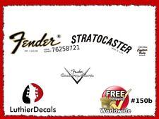 Fender Stratocaster Guitar Decal Waterslide Headstock Logo #150b