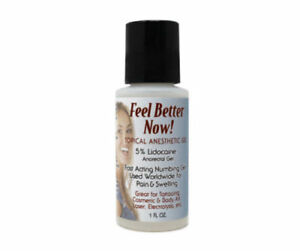 FEEL BETTER NOW TOPICAL NUMBING GEL for MICROBLADING permanent makeup Anesthetic