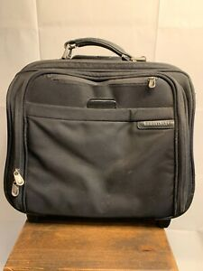BRIGGS & RILEY Executive Rolling Travel Black Tote Bag Carry On BR-214 Pre-Owned