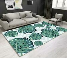 3D Green Leaves Wavy Non-Slip Rug Door Shower Play Mat Hearth Floor Carpet 171