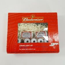 Budweiser Beer Can 20 pc Indoor Outdoor String Light Set Bar Pub Party 21ft NEW!