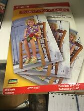 """Canon Glossy Photo Cards  4.67"""" x 8.42"""" Perforated at 4""""x6"""" for Borderless Photo"""