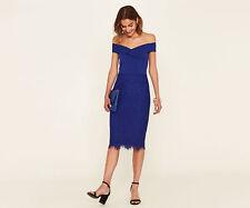 Oasis Bardot Lace Pencil Dress - Size Uk18