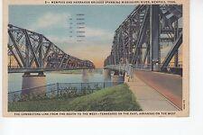 Memphis and Harrahan Bridges over Mississippi River Memphis  TN Tenn