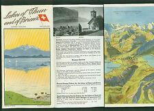 Lakes of Thun and of Brienz Switzerland Schweiz Panorama Informationen Foto 1962