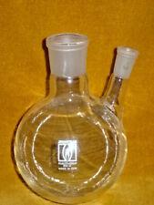 Zweihalskolben 500 ml Destille  NEU Laborglas Laboreinrichtung Laborzubehör