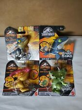 Jurassic World Snap Squad Mini Dinosaur Camp Cretaceous lot of 4 triceratops