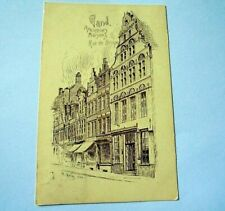 LOVELY AND VERY OLD PPC: GAND~GENT~RUE DE BRUGES~N. HEINS~ca 1906~UNDIVIDED