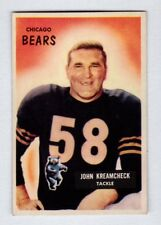 1955 Bowman #76 John Kreamcheck Chicago Bears Near Mint condition no creases