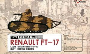 Flyhawk 1/72 Renault FT-17 Light tank w/Rivet-type Turret (2 Kits)
