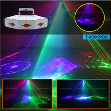 6 eyes RGB DMX laser light DJ Club Xmas Home Party Decor Light
