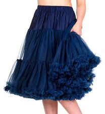 BANNED Women's Clothing Skirts Starlite 50s Retro Petticoat Skirt 23 Inch Navy 16/18
