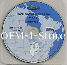 03 2004 2005 FORD EXPEDITION EDDIE BAUER NAVIGATION MAP CD 7 MIDWEST IL IN MI WI