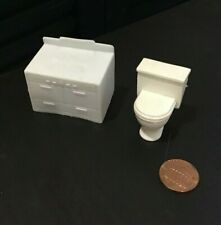 Vintage Plastic Dollhouse Furniture CHEERIO Made In England Stove & Toilet