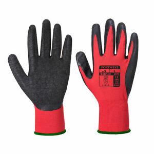 Portwest A174 Flex Grip Waterproof Latex Coating Breathable grip Glove Red/Black