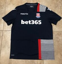 Rare Mens Stoke City Soccer Jersey By Macron In Navy Size L Bet365