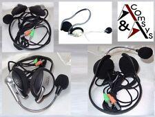 Auriculares estéreo + micrófono PC portátil VoIP skype MSN chat auriculares cuello perchas